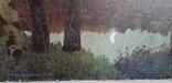 Картина*Лунная ночь*к/м,44*55,худ.Юзефович В.Г.1948г, фото №7