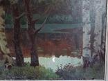 Картина*Лунная ночь*к/м,44*55,худ.Юзефович В.Г.1948г, фото №12