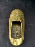 Туфелька. Пепельница с гравировкой восточного узора, фото №6