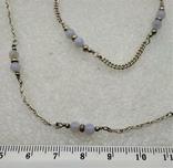 Набор Цепочка и Браслет Серебро 925 Натуральный Камень Агат, фото №4