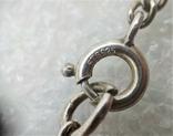 Набор Цепочка и Браслет Серебро 925 Натуральный Камень Агат, фото №9