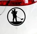 Наклейка на авто Камрад в круге (черная), фото №3
