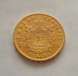 Франция, 20 франков 1868г., золото 6,45г., фото №6