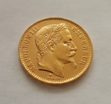 Франция, 20 франков 1868г., золото 6,45г., фото №7