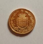 Италия, 20 лир 1882г., золото 6,45г., фото №9