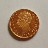 Италия, 20 лир 1882г., золото 6,45г., фото №10