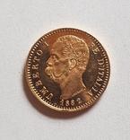 Италия, 20 лир 1882г., золото 6,45г., фото №11