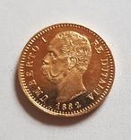 Италия, 20 лир 1882г., золото 6,45г., фото №12