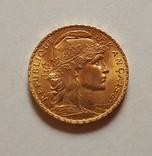 20 франков 1908 год, Франция, золото 6,45 грамм 900', фото №2