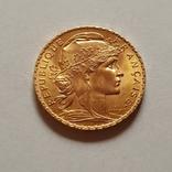 20 франков 1908 год, Франция, золото 6,45 грамм 900', фото №9