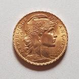 20 франков 1908 год, Франция, золото 6,45 грамм 900', фото №10