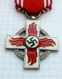 Крест 2 класса за 25 лет службы в пожарной охране, III Рейх, Германия (КОПИЯ)., фото №3