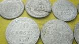Срібні гроши різних років та номіналів Росіі для Польші, фото №5