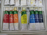 """Масляные краски """"BASIGS"""" Китай. 15 малых туб - Б/У., фото №5"""