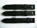 Ремешок для часов 18 мм.кожа,новый 3 шт., фото №2