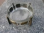 Пепельница большая винтаж СССР стекло бронза чеканка, фото №2