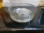 Пепельница большая винтаж СССР стекло бронза чеканка, фото №3