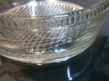 Пепельница большая винтаж СССР стекло бронза чеканка, фото №4