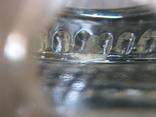Пепельница большая винтаж СССР стекло бронза чеканка, фото №5