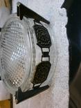 Пепельница большая винтаж СССР стекло бронза чеканка, фото №10
