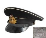 Суконная морская офицерская фуражка красный воин 1953 год ВМФ., фото №3