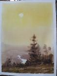 Рисунок акварель подпись, фото №2