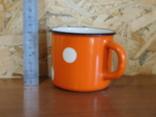 Чашка оранжевая фото 2