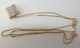 Золотой кулон с бриллиантами на цепочке, фото №3