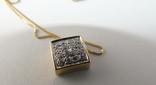 Золотой кулон с бриллиантами на цепочке, фото №4