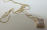 Золотой кулон с бриллиантами на цепочке, фото №8