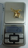 Золотой кулон с бриллиантами на цепочке, фото №13