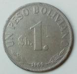 1 песо 1969 г. Боливия, фото №3
