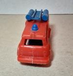 Машинка пожарная из СССР длина 9 см., фото №6