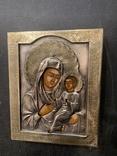Посріблення / Икона Тихвинская 13,5*16,5*2,5см, фото №2