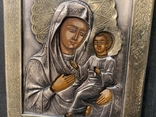 Посріблення / Икона Тихвинская 13,5*16,5*2,5см, фото №3