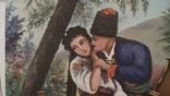 Картина СССР. Свидание у колодца. Масло. Холст. Копия., фото №3