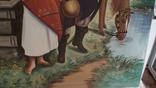 Картина СССР. Свидание у колодца. Масло. Холст. Копия., фото №4