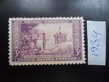 США. 1934 г. Висконсин. 300-лет.  марка MH, фото №2