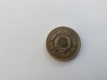 Монета Югославия 1 динар, 1983 год, фото №2