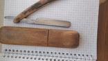 Опасная бритва Crown and sword solingen в деревянном футляре, фото №4