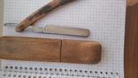 Опасная бритва Crown and sword solingen в деревянном футляре, фото №5