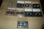 Аудиокассета кассета Konica Range Fuji и др. - 9 шт в лоте, фото №2