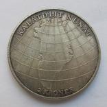 2 кроны 1953 г. Дания /Визит в Гренландию/, фото №5