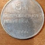 5 франков,Швейцария, монета памяти Келлера, фото №3
