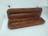 Деревянная коробочка для ручки. Надпись Marlboro, фото №2