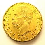 Италия 20 лир 1885 г., фото №2
