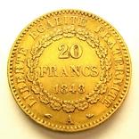 Франция 20 франков 1848 г., фото №3