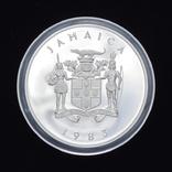 25 Долларов 1983 Королевский Визит (Серебро 0.925, 136.08г) 4oz, Ямайка 4 Унции, фото №3