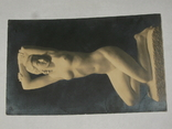 Открытка до 1917 Статуя девушки Ню.  №84, фото №3