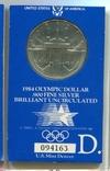 США 1 доллар 1984 XXIII Летние Олимпийские игры 1984 года в Лос-Анжелесе. Серебро., фото №2